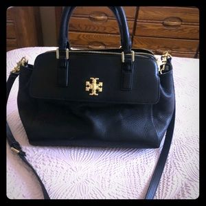 Tory Burch black leather bag with gold details